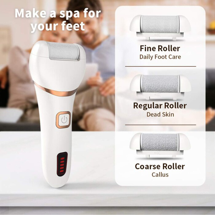 Electronic Feet File Hard Skin Callus Remover Scrubber Home Pedicure Exfoliation Tool Rechargeable SK88