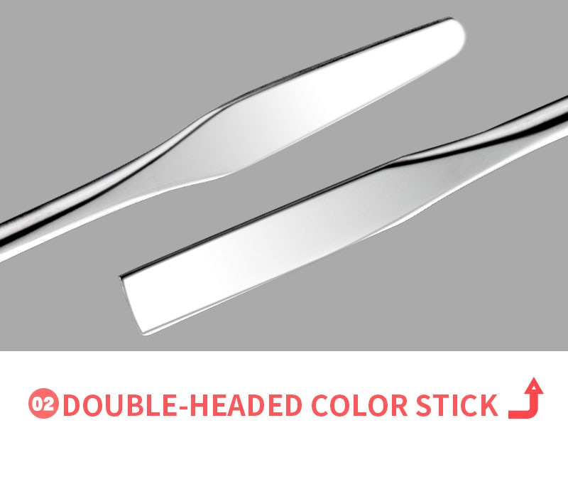 Acrylic Palette Spatula Rod Gel Foundation Eye shadow Mixing Cream Pigments Stainless Cosmetic Makeup Nail Art Manicure Tool set