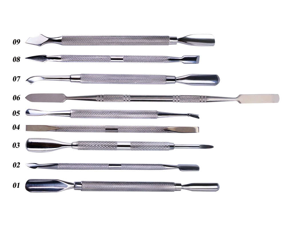 1pc Stainless Steel Nail Art Double Sided Cuticle Finger Dead Skin Cut Remover Pusher Manicure Pedicure Nail Care Tools LA1-9