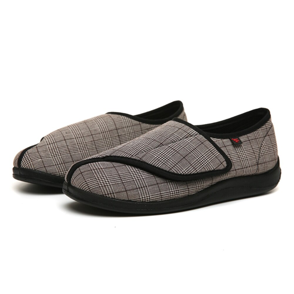 Diabetes Edema shoes Extra Wide width Slippers Adjustable  Orthopaedic Fasciitis Easy  On Off Closure Shoes  swollen feet
