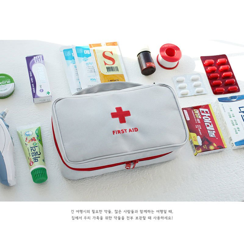 Empty Large First Aid Kit Emergency Medical Box Portable Survival Medical Bag Travel Outdoor Camping Big Capacity Home/Car
