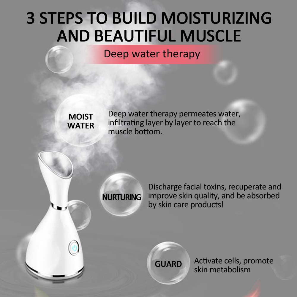 Nano Ionic Deep Cleaning Facial Cleaner Facial Hot Steamer Face Sprayer Beauty Face Steaming Device Facial Steamer Machine