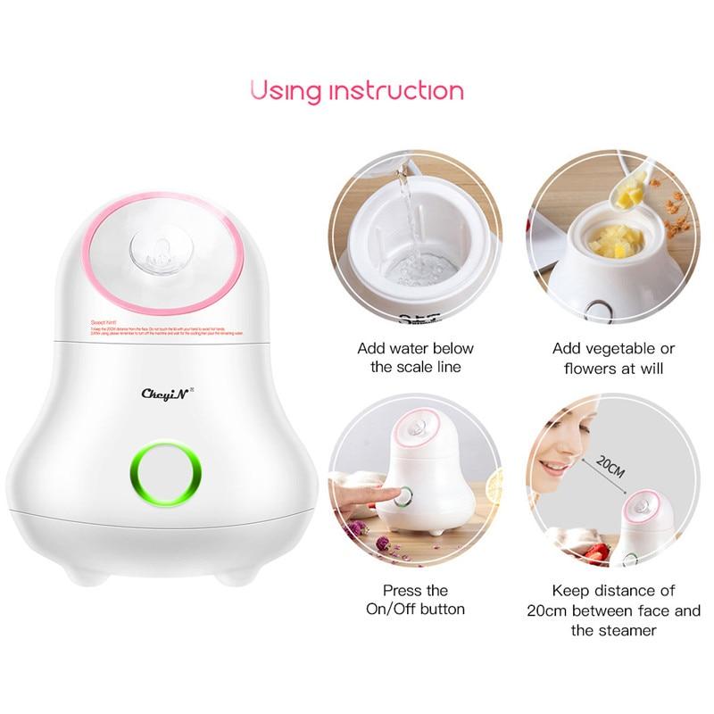 Nano Ionic Facial Steamer Lady Face Sprayer Humidifier Personal Sauna Spa Steaming Tool Beauty Moisturizer Open Pore Skin Care