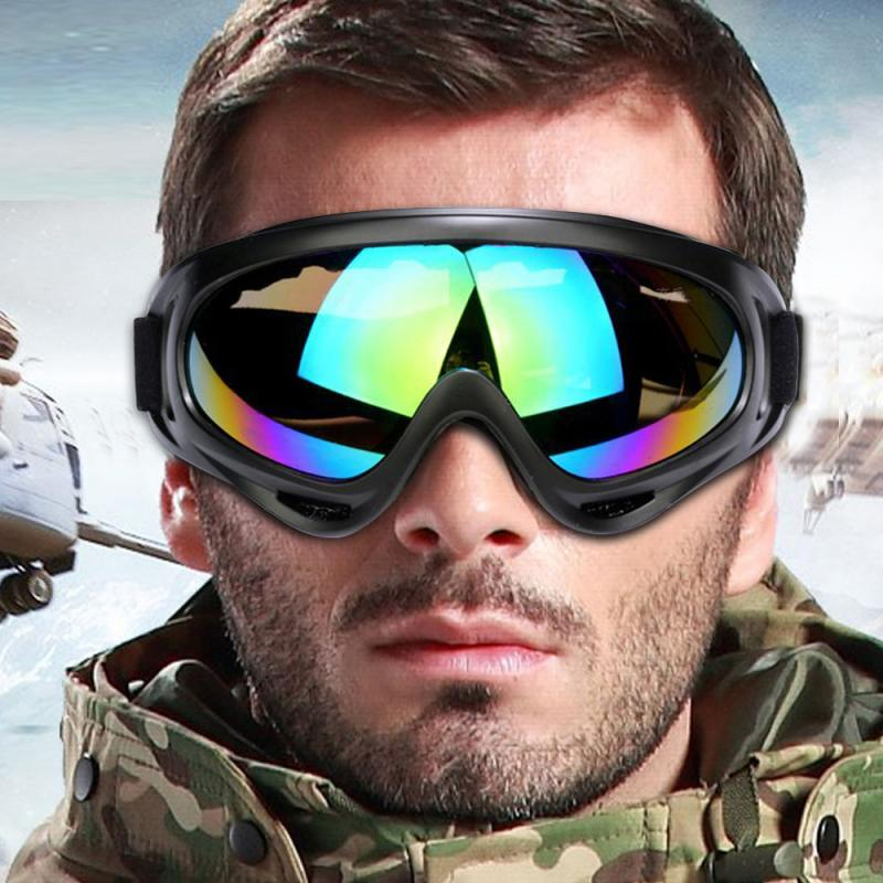 Outdoor Goggles Bike Cycling PC Lens Large Frame Glasses Skiing Eyewear Windproof Glasses Anti-scratch Protective Products