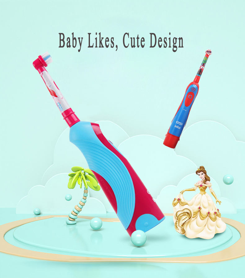 Oral B Sonic Electric Toothbrush For Children Oral Care Best Electronic Brush Kids Stages Battery Power Brush Teeth Random Color