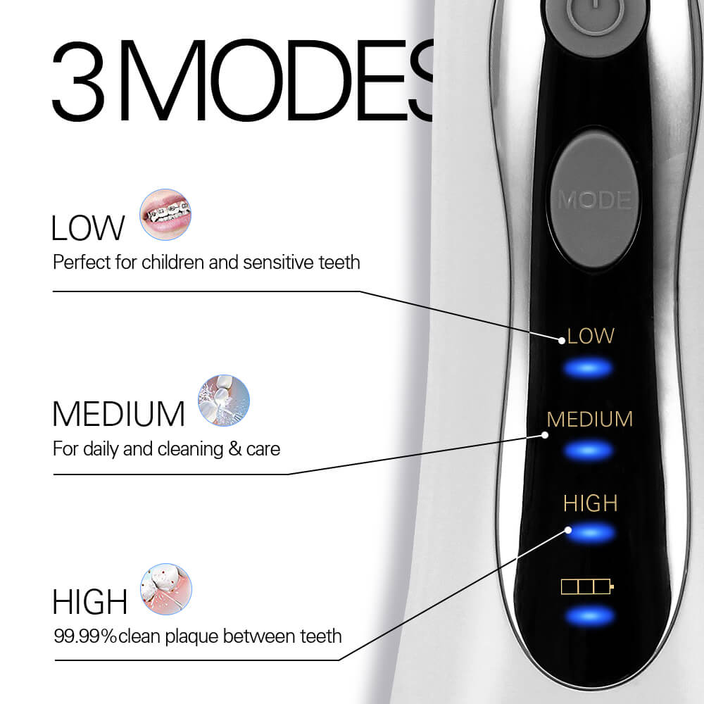 5/8 Nozzles Portable Oral Irrigator Cordless Water Dental Flosser USB Rechargeable Water Mouth Cleaner Floss Toothbrush 300ml