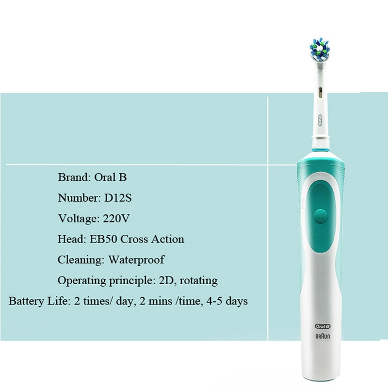 Oral B Electric Toothbrush Rechargeable Vitality Adult Toothbrush or Replacement Teeth Brush Heads Imported from German