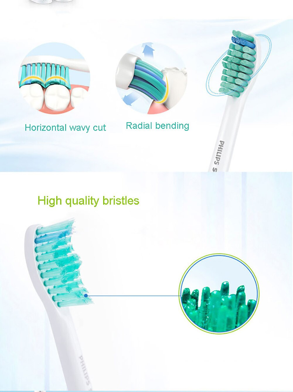 Philips HX3216 Sonicare Electric Toothbrush with Easy Click-On Brush Heads and Light Shows Battery Status for Aduls Rechargeable