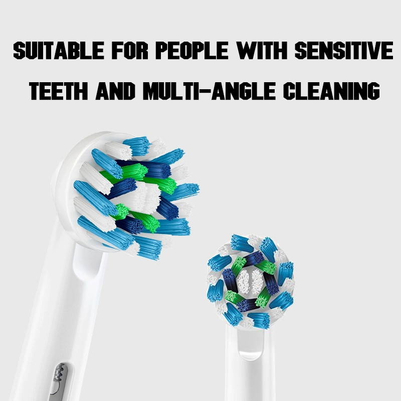 Oral B Electric Toothbrush Heads For Rotary Electric Toothbrush 4pc/Pack Replaceable Teeth Brush Heads