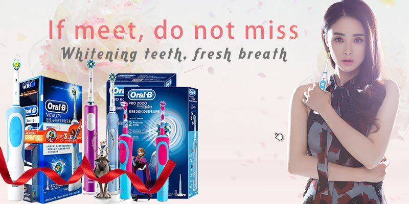 Oral B Rechargeable Sonic Electric Toothbrush Teeth Whitening PRO600 Plus 3D Action Ultrasonic Rotating Electric Brush Tooth