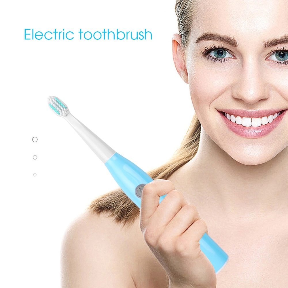 Oral Cleaning Electric Toothbrush Sonic Wave Whitening Waterproof Rechargeable Oral Hygiene 1+5 Replacement Toothbrush Heads