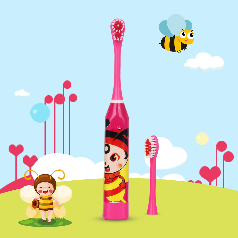 AZDENT Children Electric Toothbrush Cartoon 4 Color Double-side Tooth Brush Heads Kids Electric Teeth Cleaner Brush Oral Hygiene