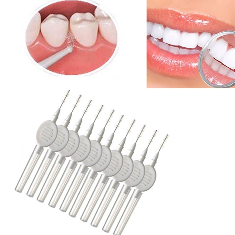 10pcs Plastic Interdental Brush Teeth Cleaning Brushes Orthodontic Tooth Flossing Dental Toothpick Rotate Oral Care