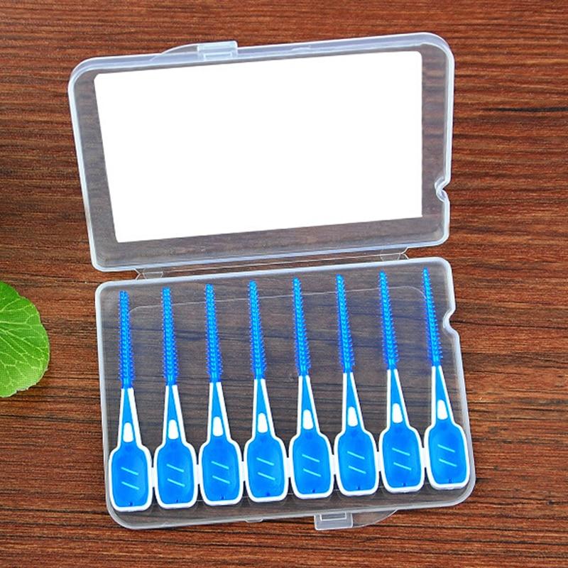 16Pcs/lot Orthodontic Brush Interdental Brush Dental Rubber Interdental Cleaning Brushes Oral Care Toothbrush