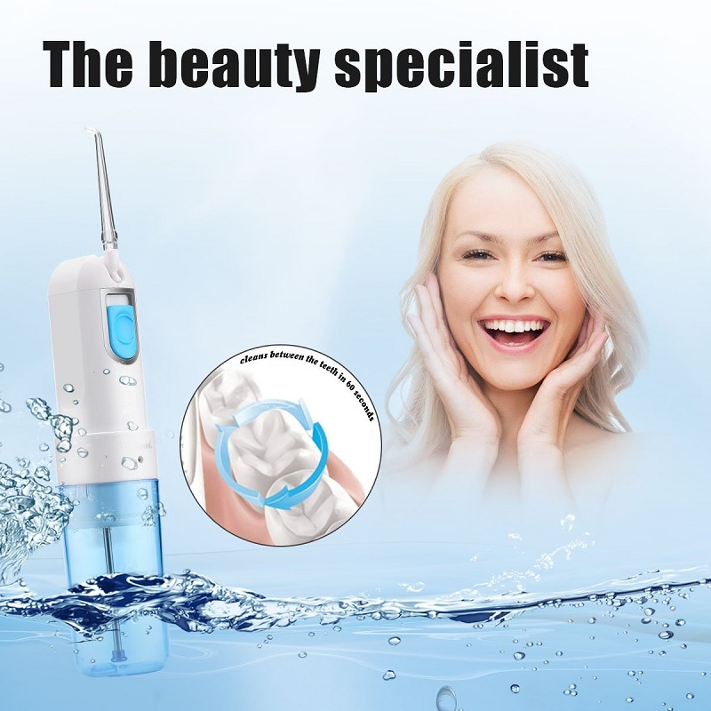 Portable Foldable Oral Irrigator Water Flosser Rechargeable Spa Teeth Cleaner USB Charging For Mouth Wash & Nasal Irrigation