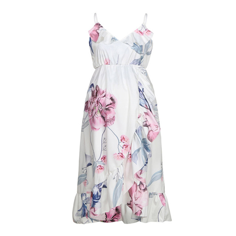 Maternity Dresses Pregnancy Dress Maternity Clothes Pregnant Dress Casual Floral Falbala Comfortable Sundress Summer Women dress