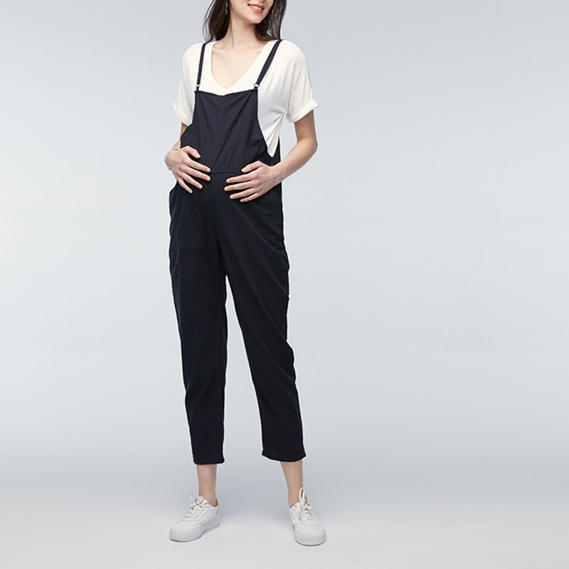 VONDA Maternity Clothings 2020 Pregnant Strap Rompers Womens Jumpsuits Casual Pregnancy Pants Sleeveless Trousers Overalls