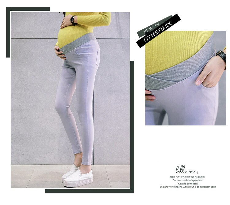 2019 Low Waist Elastic Maternity Pencil Pants Cotton Skinny Leg Pregnancy Pants Maternity Clothes Leggings for Pregnant Women