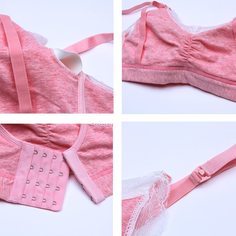 ZTOV Cotton Feeding Bra For Nursing Moms Pregnancy Breastfeeding Underwear Bra Maternity Nursing Bra Clothes for Pregnant Women