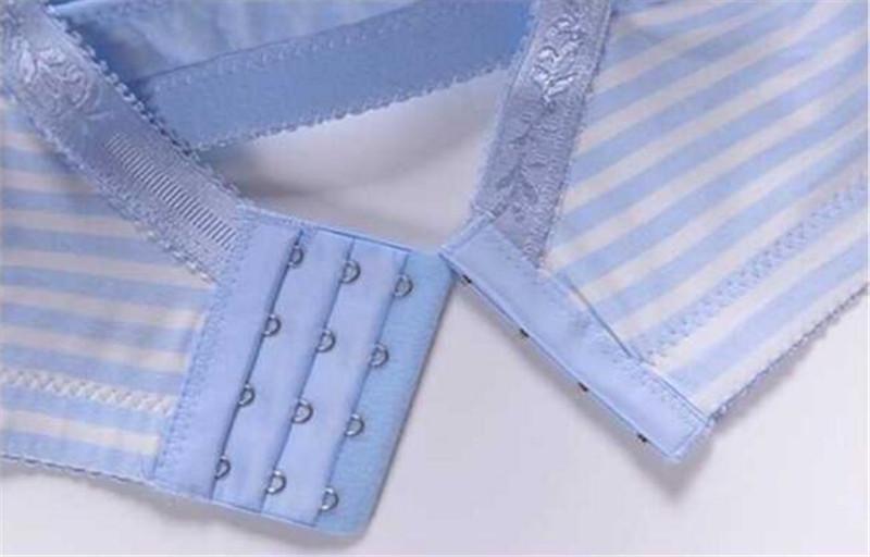 Maternity Nursing Bra Cotton Front Buckle Thin Stripe Sleep Bras for Breastfeeding Pregnant Women Feeding Bra Undearwear Clothes