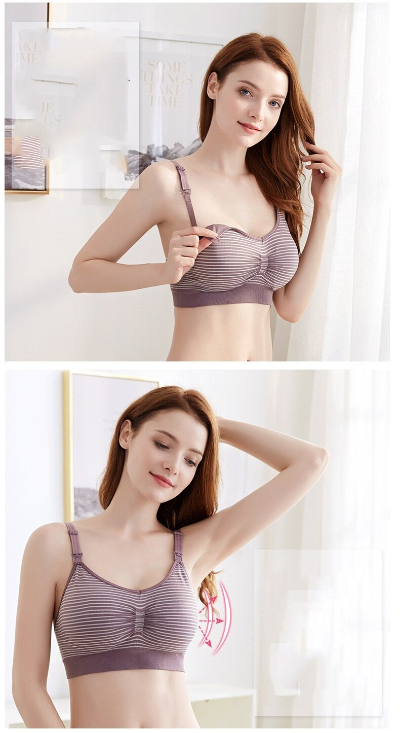 Maternity Bra Pregnancy Clothes Breastfeeding Underwear Pure Cotton Sterile Bras for Nursing Allaitement lactancia 42