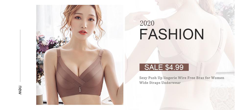 Seamless Bras for Women Push Up Bras No Wire Brassiere A B Cup Underwear
