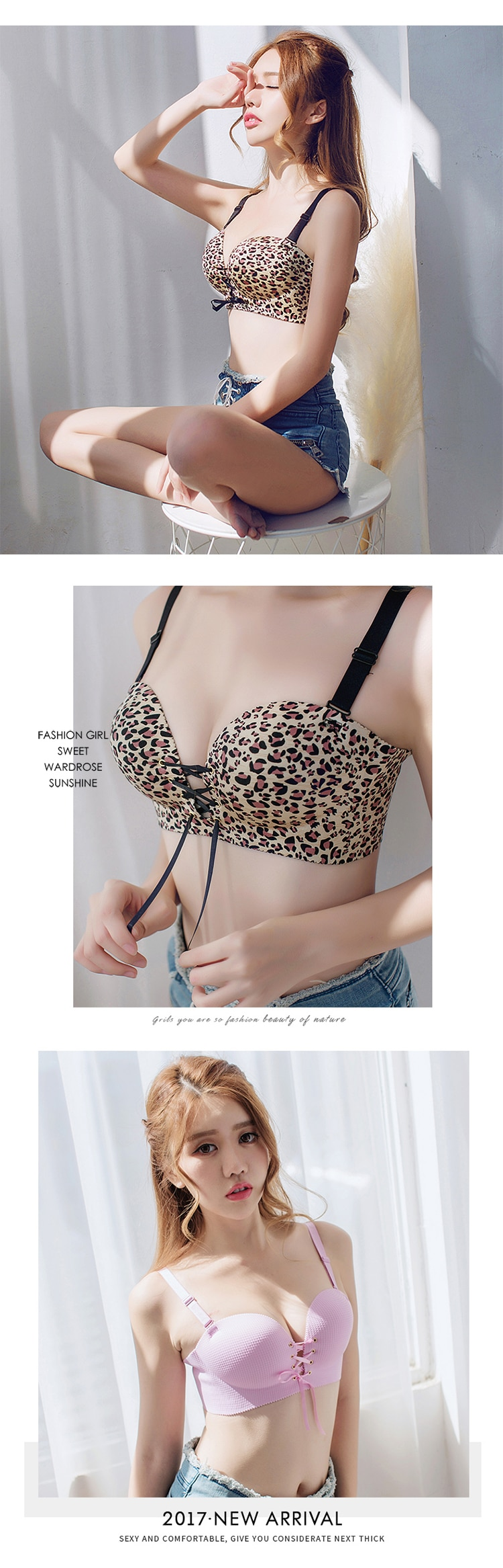 Fashion Sexy Bars Adjusted Seamless Lingerie Wire Free Bras For Women Push Up Bra Intimates