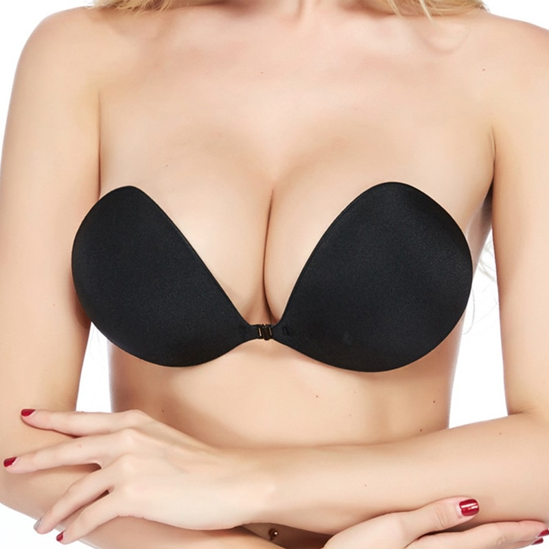DERUILADY Women Lingerie Sexy Backless Invisible Bras For Women Intimates Strapless Silicone Adhesive Bralette Psh Up Bra