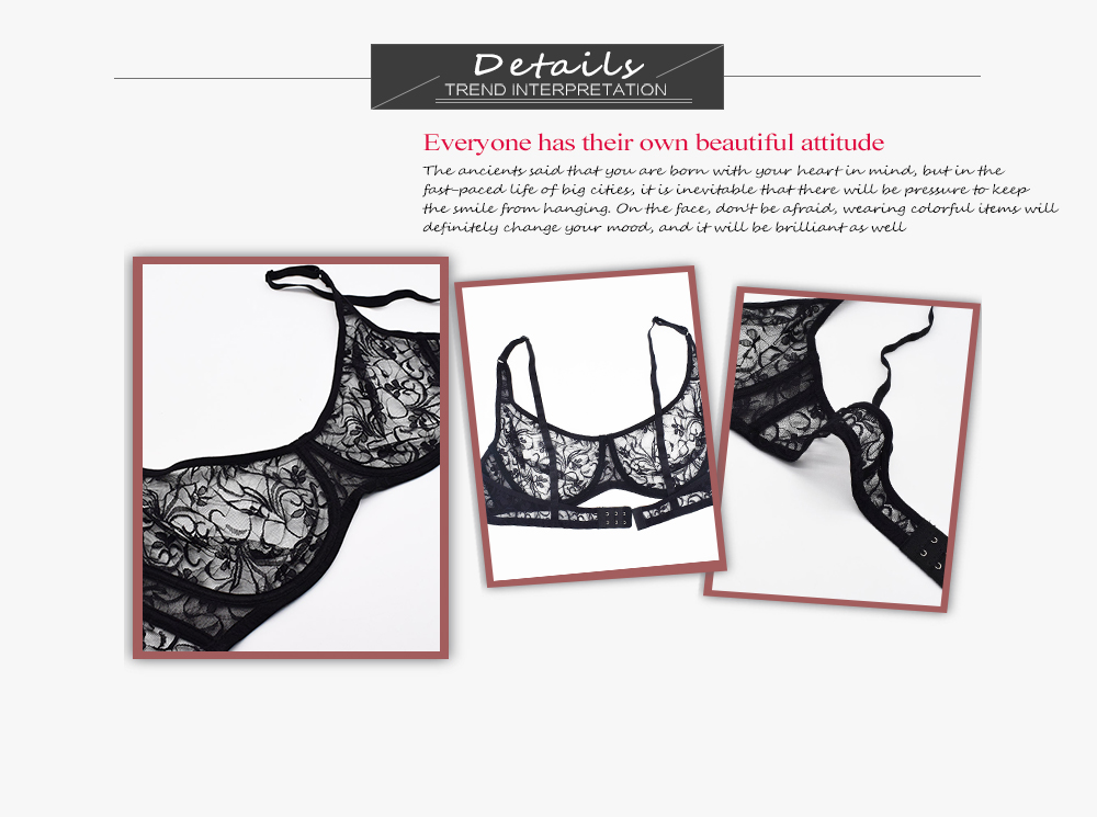 Plus Size Sexy Lace Bras For Women Underwired BH Hollow Out Bra Bralette Womens Underwear Delicate Embroidery Lingerie Brassiere