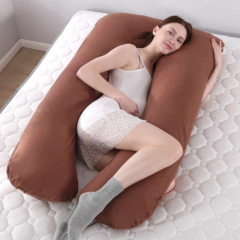 Pregnancy Pillow Body Pillow For Pregnant Women Body Maternity Pillows Cotton Pillowcase U Shape Pregnancy Sleeping Support