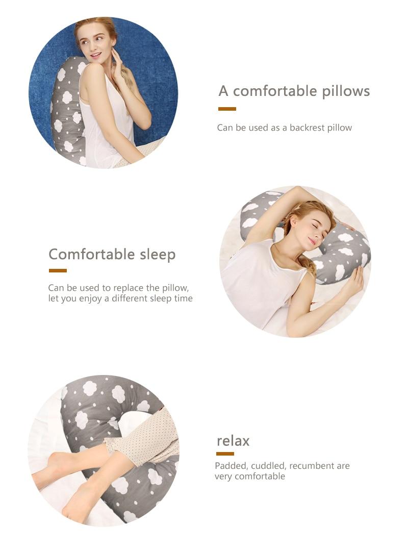 Baby Nursing Pillows Maternity Newborn U-Shaped Breastfeeding Pillow for Baby Infant Cuddle Cotton Feeding Waist Cushion Pillows