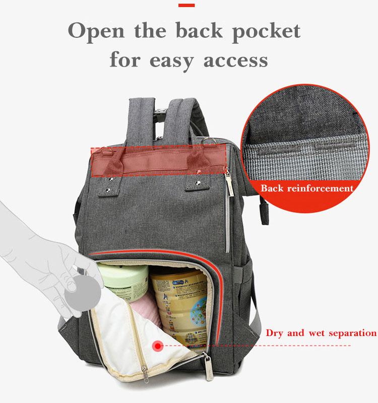 Fashion Mummy Maternity Diaper Bag Large Nursing Bag Travel Backpack Designer Stroller Baby Bag Baby Care Nappy Backpack