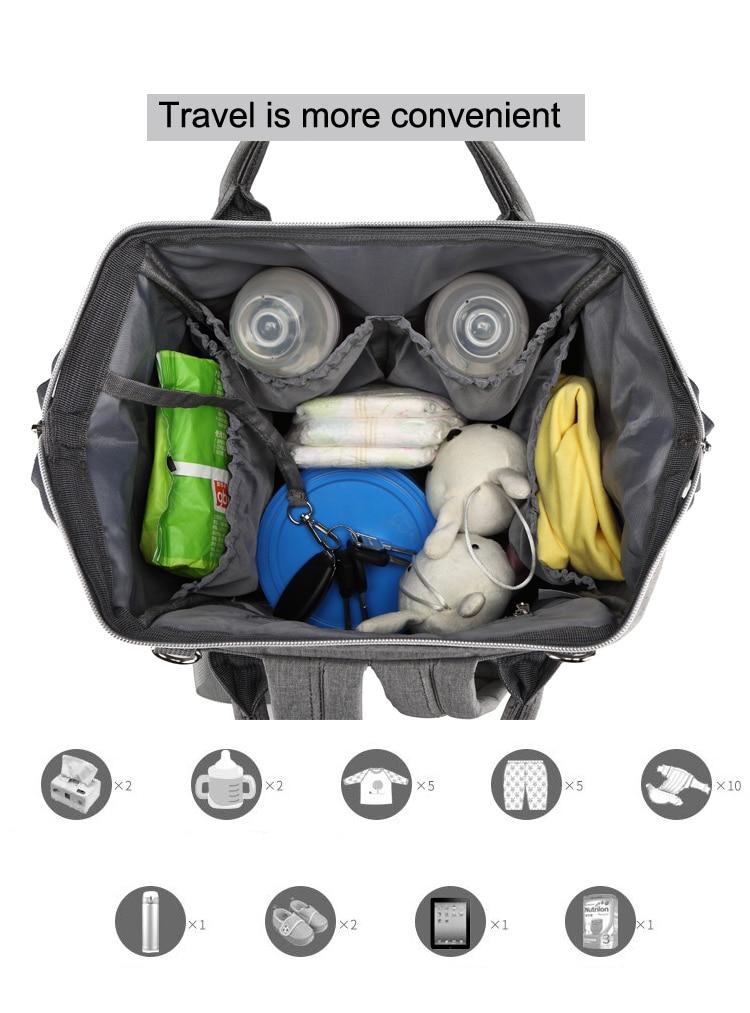 Mummy bag USB Diaper Bag Baby Care Large Capacity Mom Backpack Mummy Maternity Wet Bag Waterproof Baby Pregnant Bag
