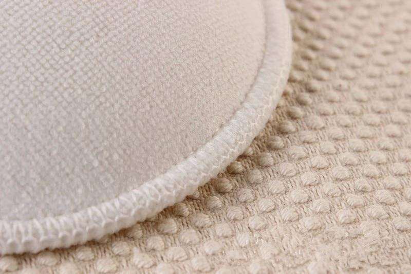 4 Pcs New White Bamboo Breast Pad Nursing Pads For Mum Washable Waterproof Feeding Pad Bamboo Reusable Breast Pads