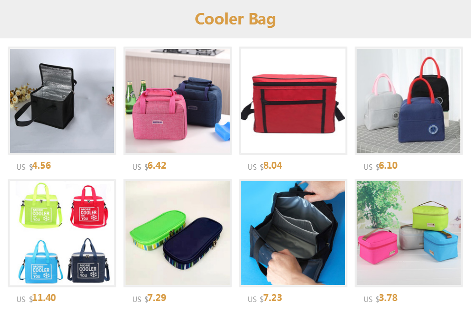 Lunch Cooler Bag Insulation Folding Picnic Portable Ice Pack Food Thermal Bag Food Delivery Bag Drink Carrier Insulated Bag