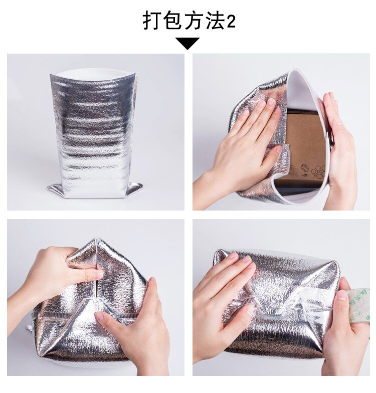 10pcs Lunch Cooler Bag Insulation Folding Picnic Portable Ice Pack Food Thermal Bag Food Delivery Drink Carrier Insulated Bag