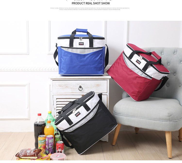34L Large Oxford Thermal Insulation package Picnic Portable container bags The plant package Food insulated bag Cooler bags