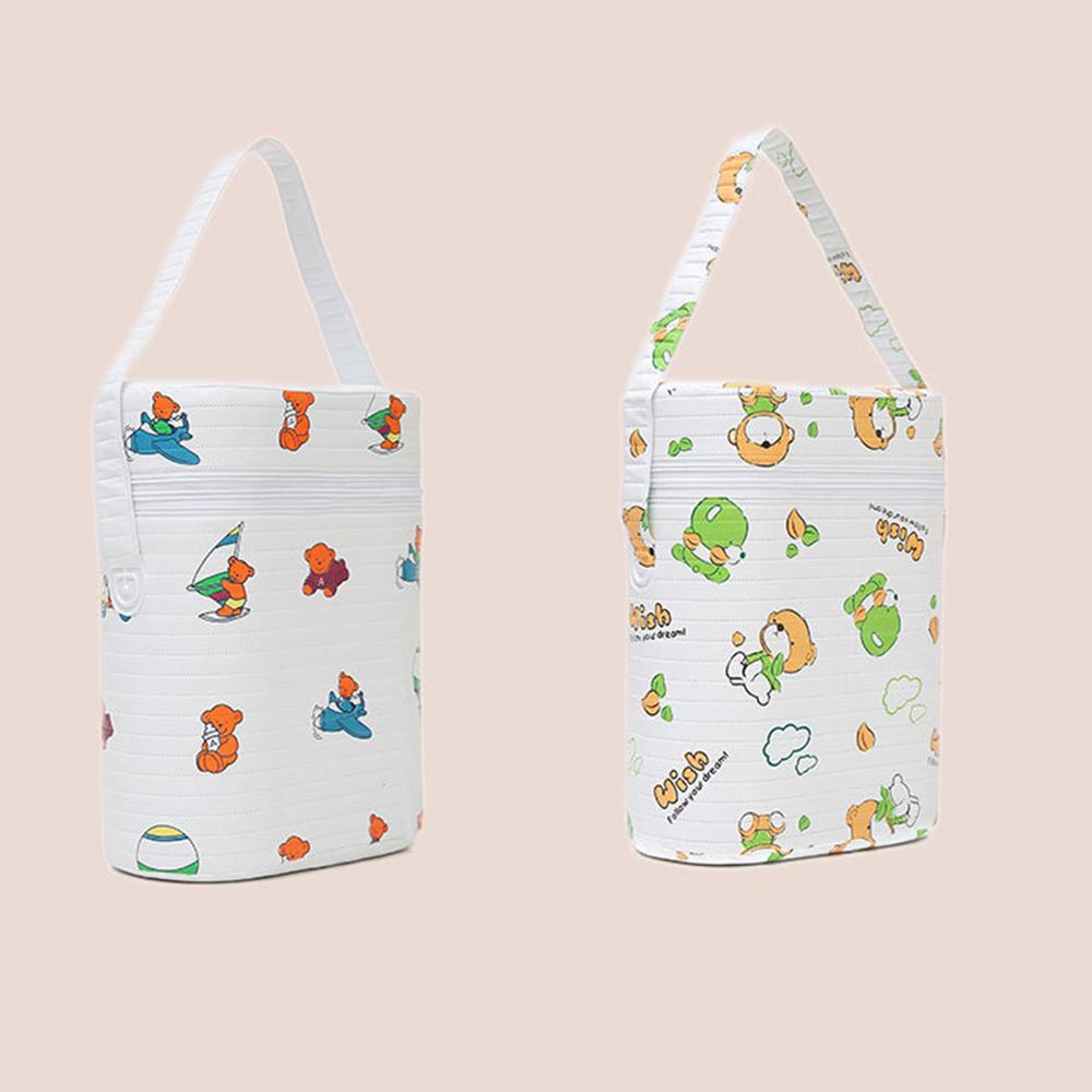 Hot Sale Cartoon Baby Bottle Bag  Portable Baby Bottle Insulation Bags  Mummy Handbag Milk Thermal Food Warm Bags Wholesale
