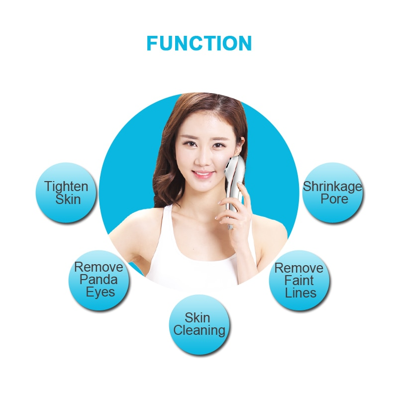 BIOSKIN Anion Sonic Hot Cold Face Massager Beauty Skin Care Vibration Anti-aging Firming Anti-wrinkle Spa Machine Rechargeable