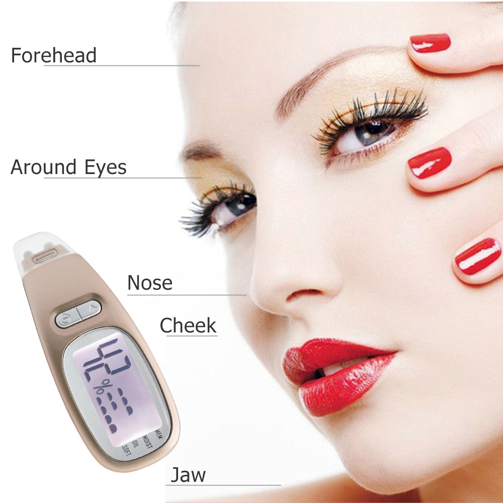 Digital Facial Skin Analyzer Moisture Oil Detection Monitor with Anti Aging Machine Portable Skin Care Massager Face Lift Tool