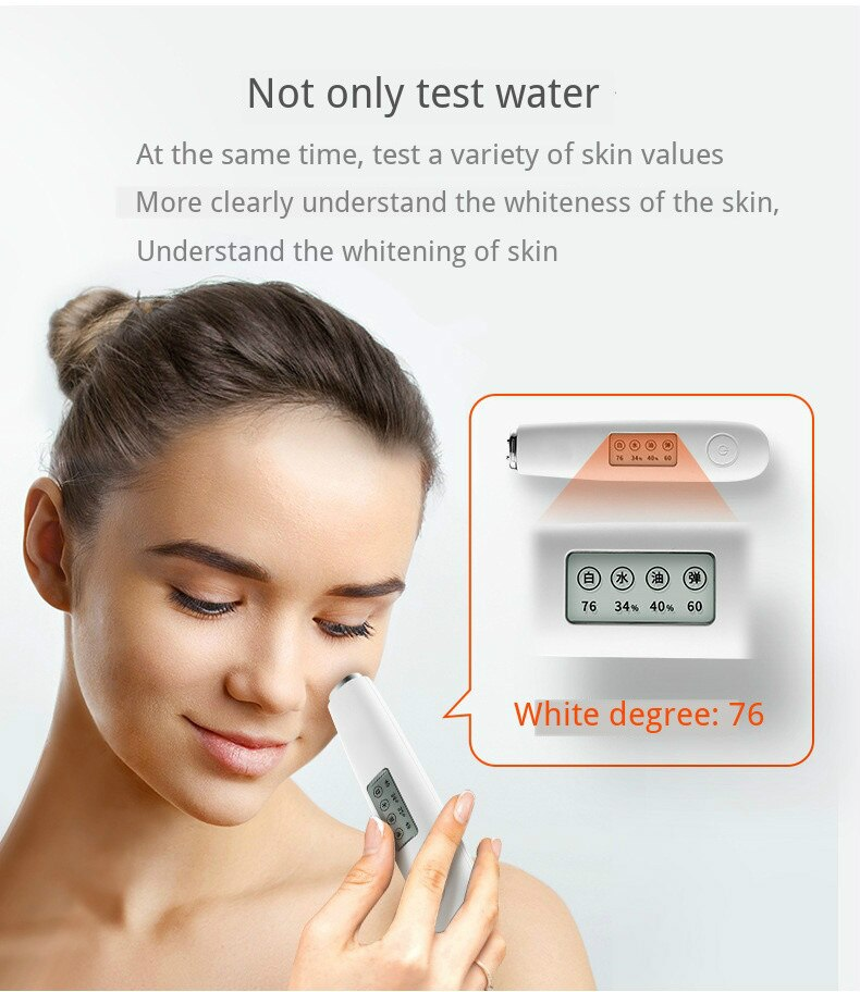 Professional LCD Display Face Water Oil Elastic Skin Tester High Precision Intelligent Skin Beauty Massager Skin Health Analyzer