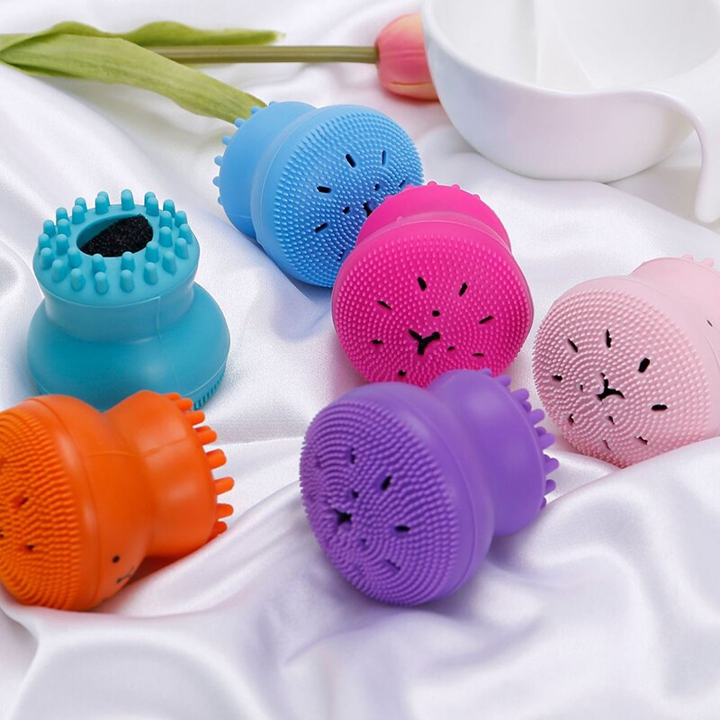 Silicone small octopus Facial Cleaning brush beauty washing brush Deep Pores Exfoliator cleansing instrument face skin care tool