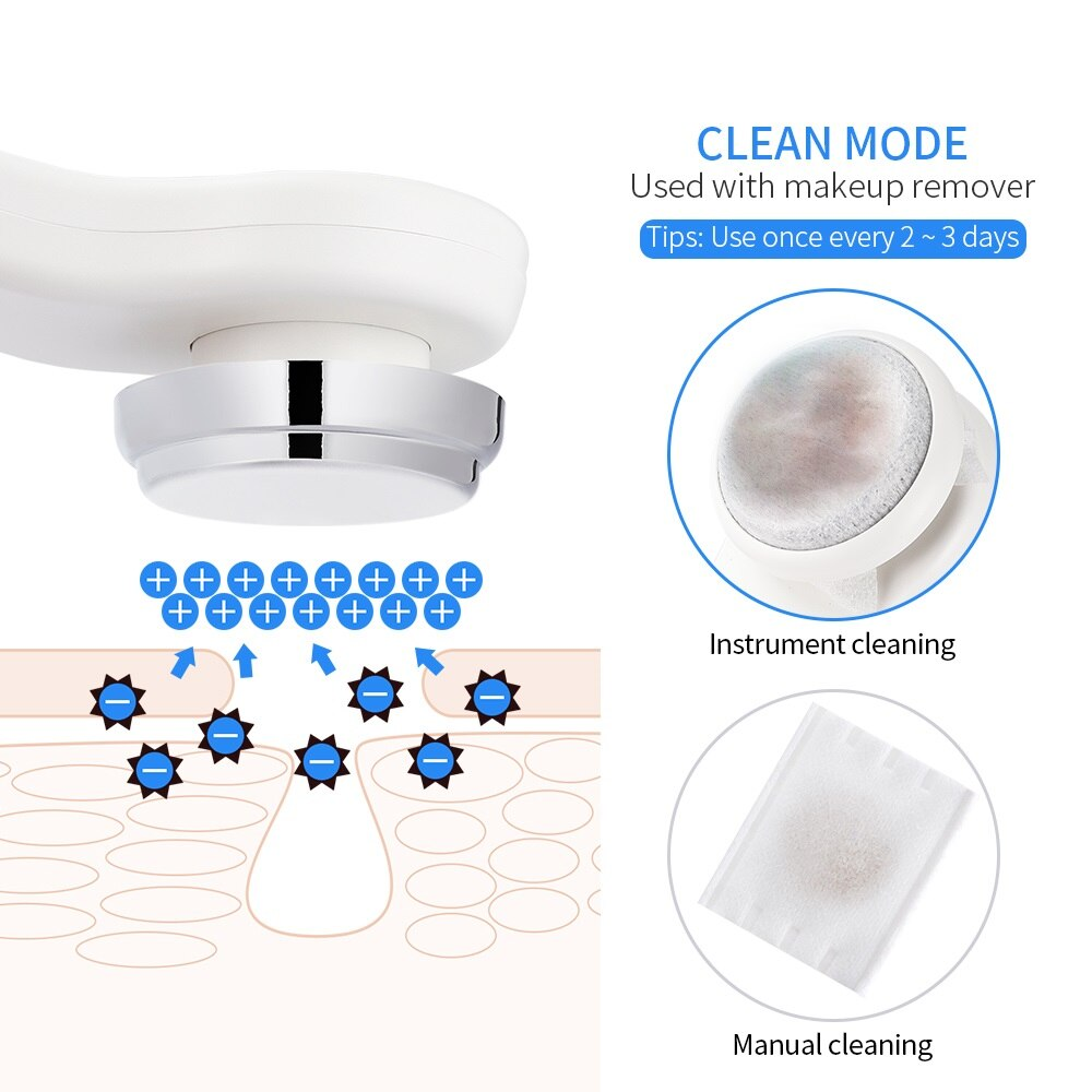 Warm Hot Usb Portable Ion Vibration Device Photon Therapy Deep Cleansing Firming Tightening Moisturizing Absorption Skin Care