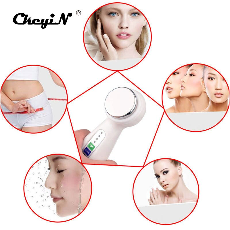 1Mhz Ultrasonic Vibration Facial Body Massager Face Fat Removal Lift Skin Tight Deep Cleansing Wrinkle Removal Beauty Slimming