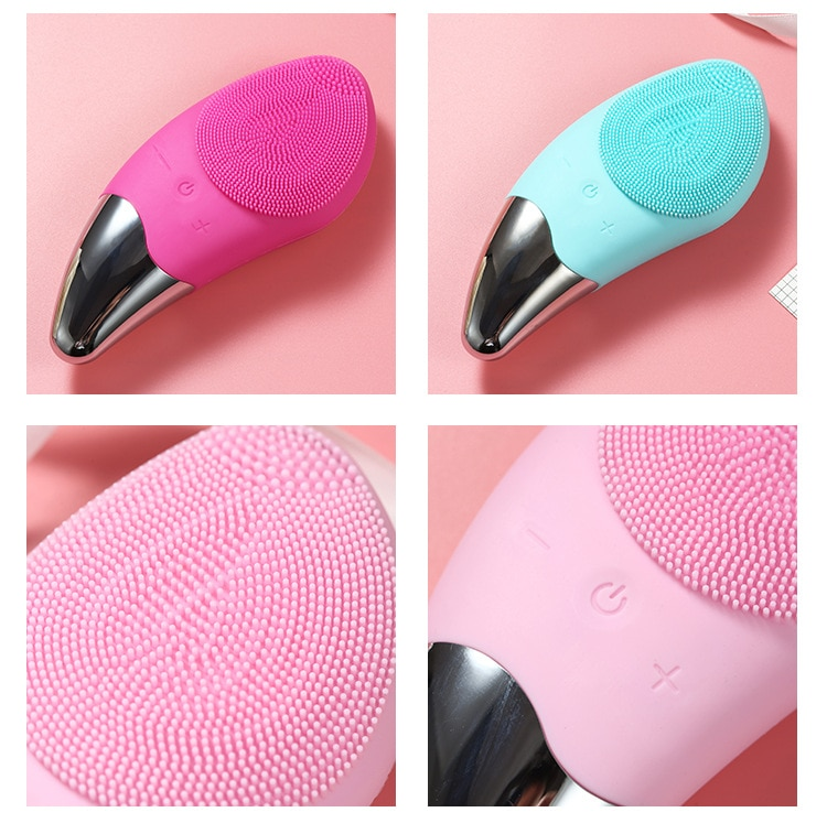 Ultrasonic Vibration Silicone Cleansing Exfoliate Smooth Skin for a Radiant Clear Complexion Personalized Facial Cleansing Brush