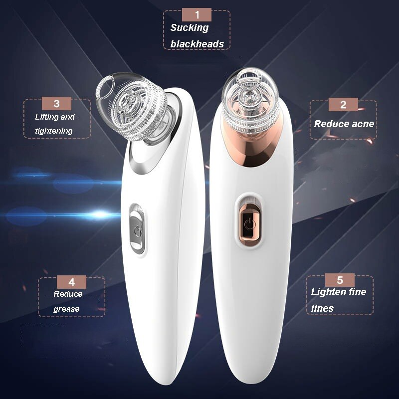 Pro Vacuum Pore Cleaner Blackhead Remover Electric Acne Clean Exfoliating Cleansing Facial Beauty Machine