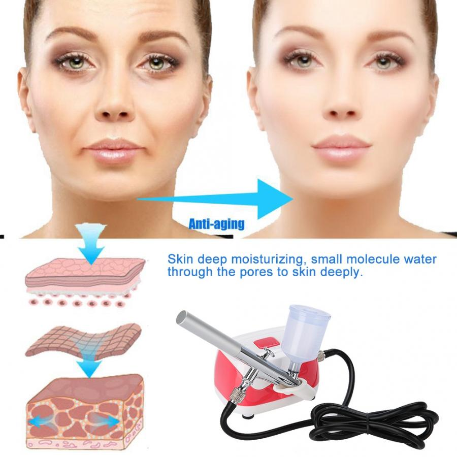 Oxygen Water Skin Care Injection Spray Gun Airbrush With Compressor Cold Moisturizing Sprayer Machine for Tattoo Makeup Nail Art