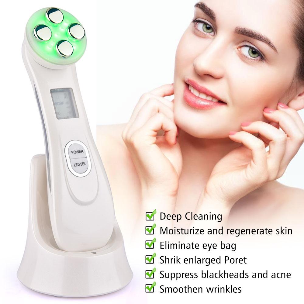 Facial Skin Rejuvenation RF EMS Mesotherapy Face Lifting Skin Tightening Device LED Photon Blackhead Acne Remover Anti Wrinkle