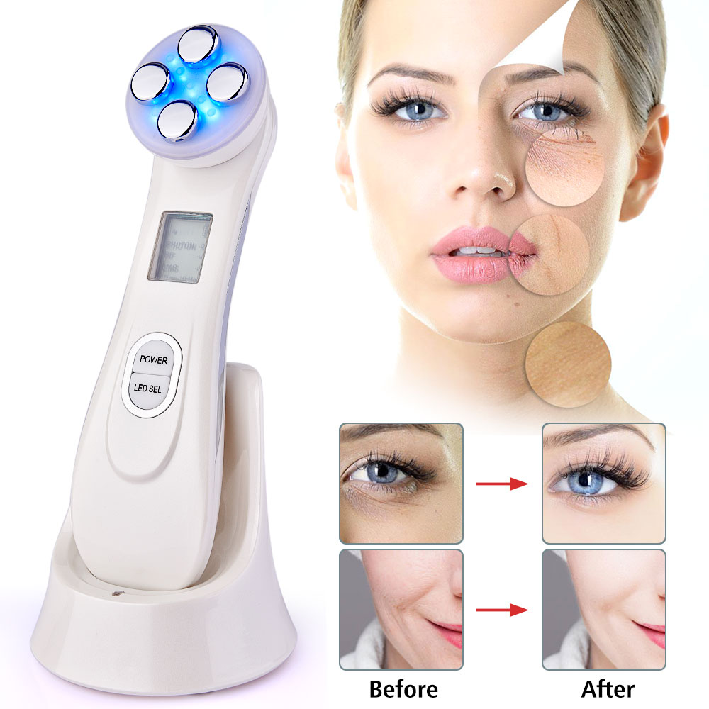 LED Photon RF Skin Lifting Machine EMS Mesotherapy Electroporation Radio Frequency Skin Rejuvenation Device Wrinkle Remover