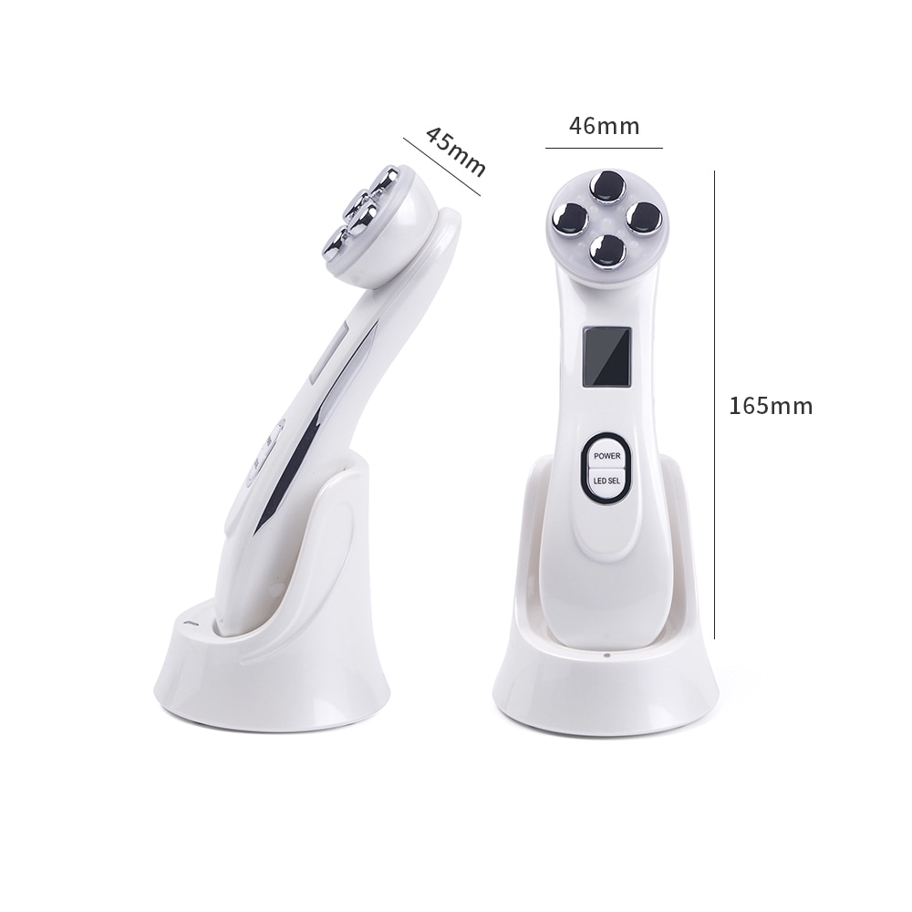 Mesotherapy Electroporation RF Radio Frequency Facial LED Photon Skin Care Device Face Lifting Tighten Wrinkle Removal Eye Care